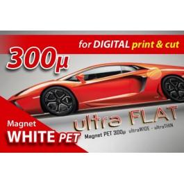 Εκτυπώσιμος Μαγνήτης PET 300mic Ultra Flat. Κατάλληλος για κοπή και εκτύπωση με solvent/ecosolvent, UV και latex μελάνια.